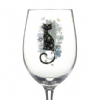 Happy Cat Art Design White Wine Glass Gift Boxed